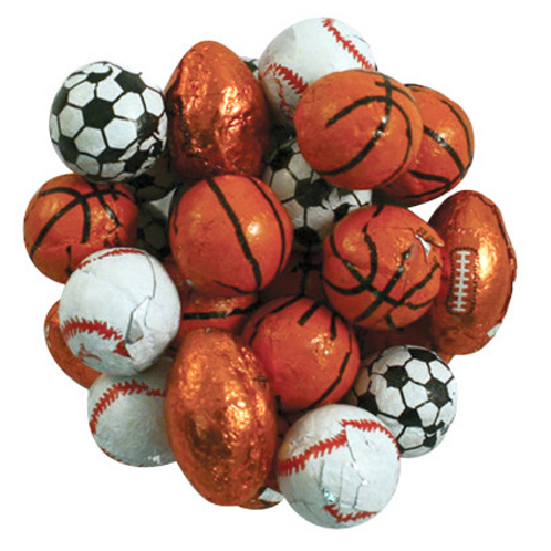 Assorted Chocolate Sports Balls