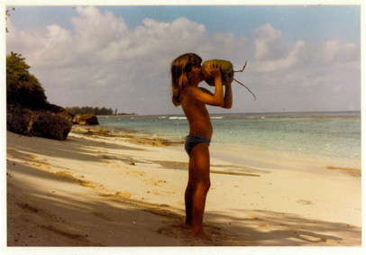 Drinking Coconut Water on a Deserted Island