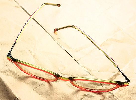 titanium and acetate eyeglasses