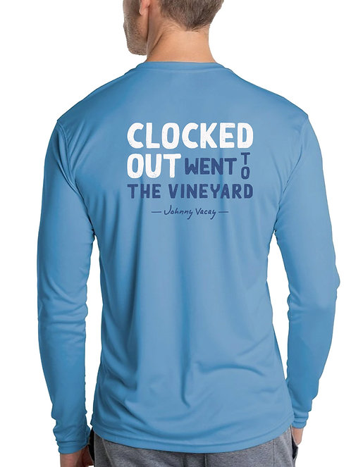 Clocked Out MVY Performance Tee