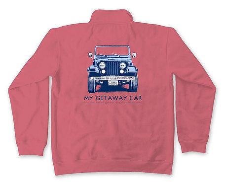 Getaway Car 1/4 zip Sweatshirt