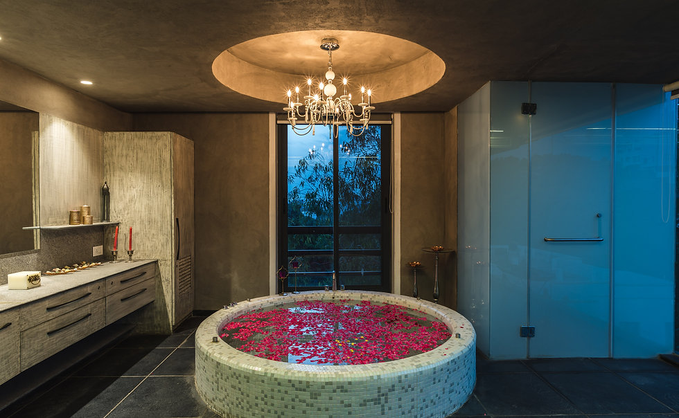 spa area in luxury residence