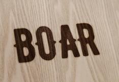 Criação de logo. Cliente: Boar Woodcraft.