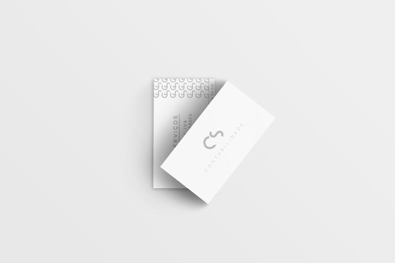 Criação de logo e cartão de visita. Cliente: CS Contabilidade.