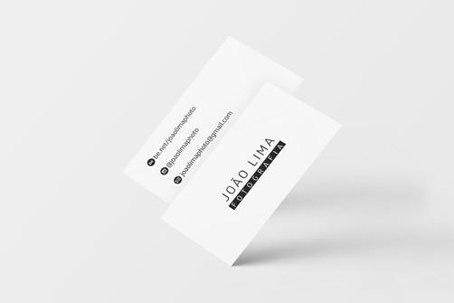 Criação de logo e cartão de visita. Cliente: João Lima Fotografia.