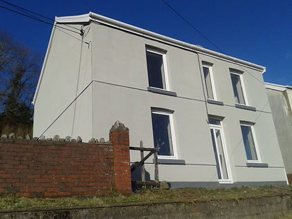 finished painted house in swansea