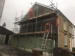 External Wall Rendering in Merthyr