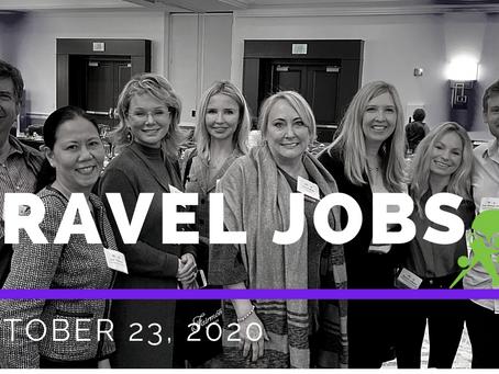 Travel Jobs Week of October 25, 2020
