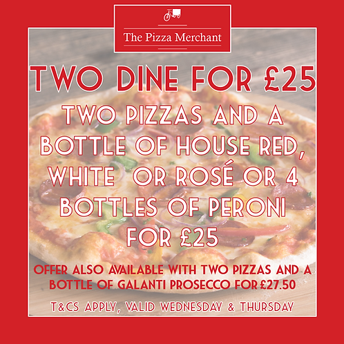 2 Can Dine For £25!
