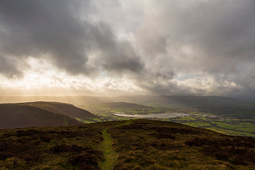 Llangorse lake and the Brecon Beacons