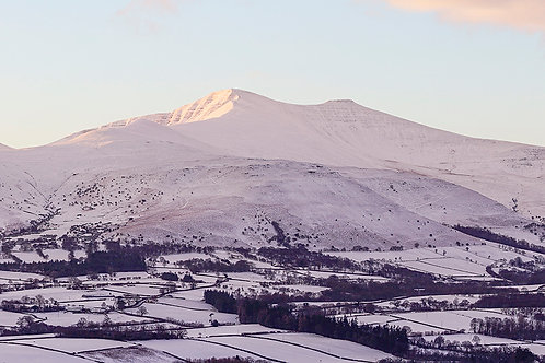 Winter Sunrise in the Central Beacons (Panorama)