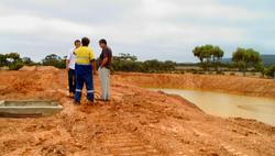 Algae Ponds construction site