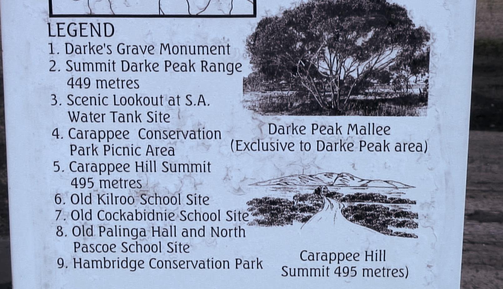 history of Darke Peak