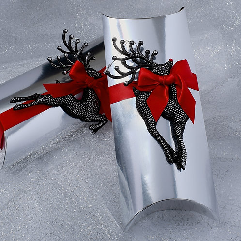 Silver Rudolph Red Nose Reindeer
