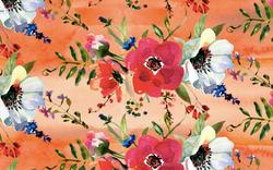 473 Flowers on Orange Tye Dye