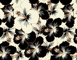 491 black hibiscus