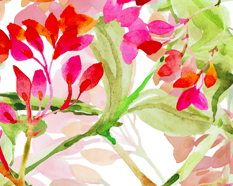 495 spring watercolor blooms