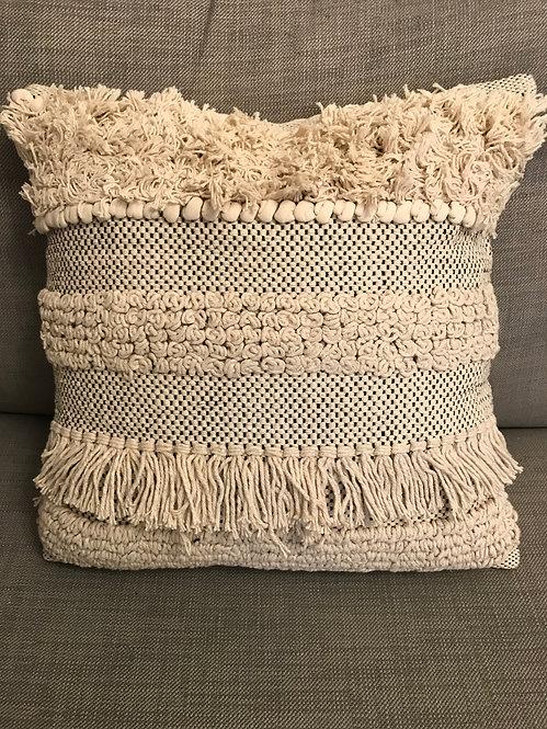 Modern Aztec Cushion - Cream