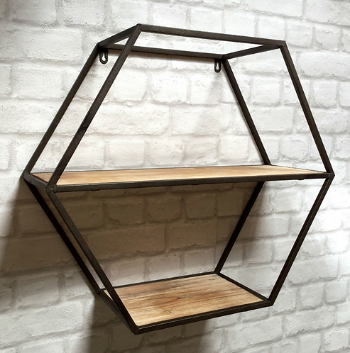 Industrial Style Wall Shelf Unit