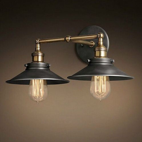 Double Black & Bronze Wall Pendant