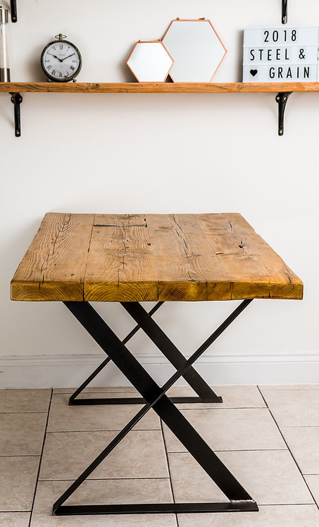 Industrial X-Leg Dining Table - £400 - £590 size depending