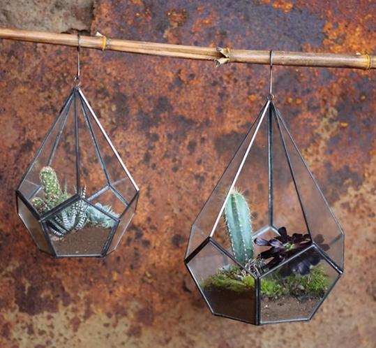 Manduri Hanging Planter - Antique Zinc