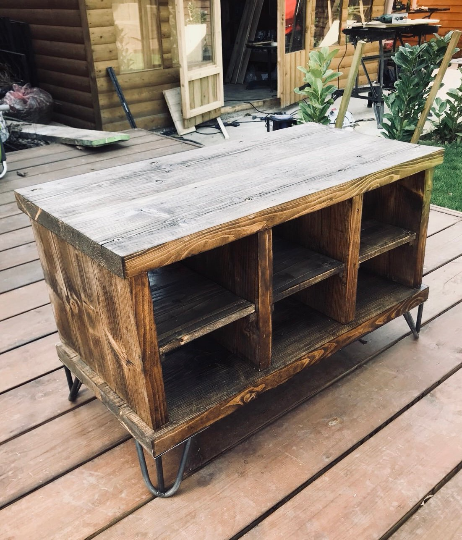Reclaimed Bench Storage Unit/ TV Stand