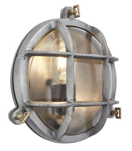 Bulkhead Round Wall Light/Flush Mount - 8 Inch - Gunmetal, by Industville