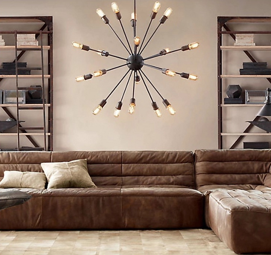Large Ceiling Star with Bulbs
