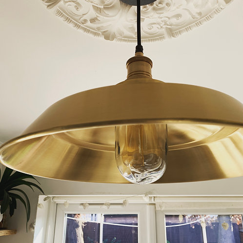 Brooklyn Step Pendant - 16 Inch - Brass, By Industville