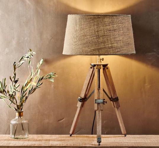 Tripod Table Lamp & Shade