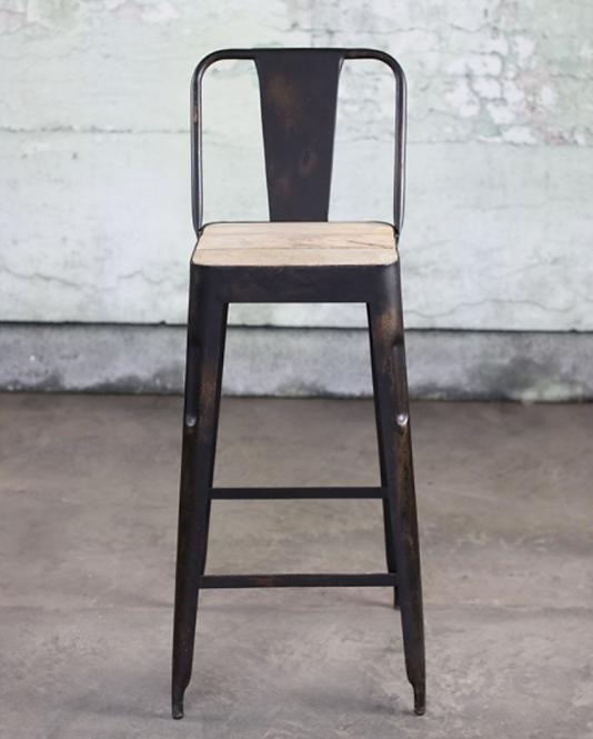 Chari Mango Wood Bar Chair