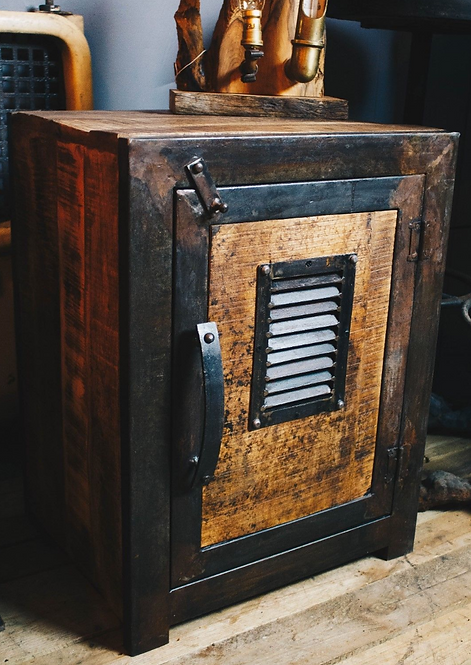 Industrial Style Storage Cabinet - Bedside/ Hallway/Lounge/Living