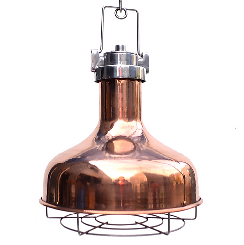 Spun Copper Cargo Pendant Light