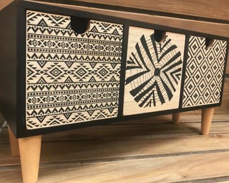 Modern Aztec Set of 3 Draws