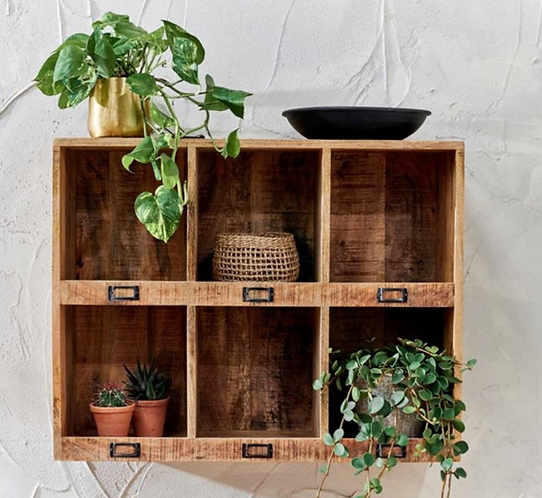*Available mid July* Wooden Locker Shelving