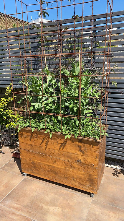 Industrial mobile planter/ living wall
