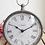 Thumbnail: Dark Grey Vintage Style Pocket Watch Mantel Clock
