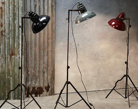 Distressed Floor Standing Film Light