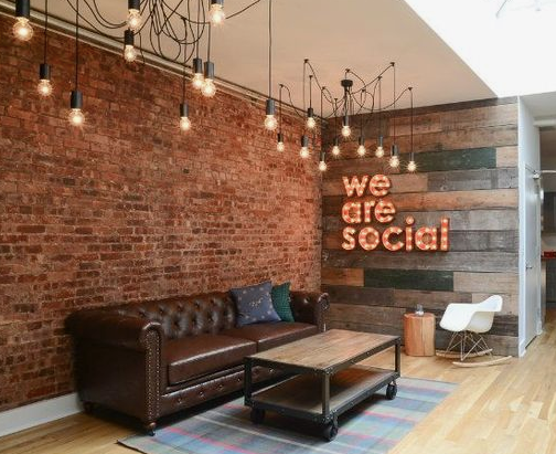 www.officelovin.com - inside we are socials gorgeous office in New York city
