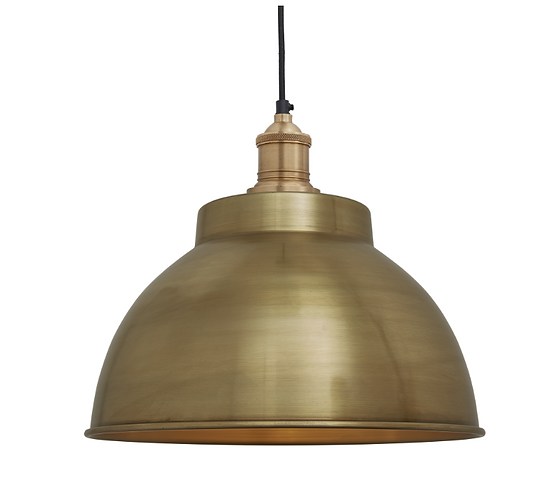 Brooklyn Dome Pendant - 13 Inch - Brass, by Industville