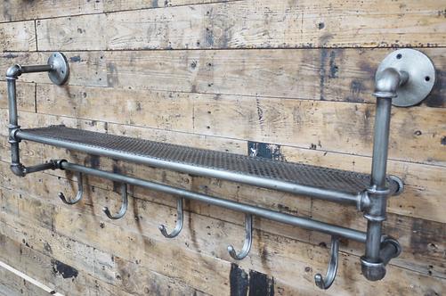 Industrial Shelf & Coat Rack