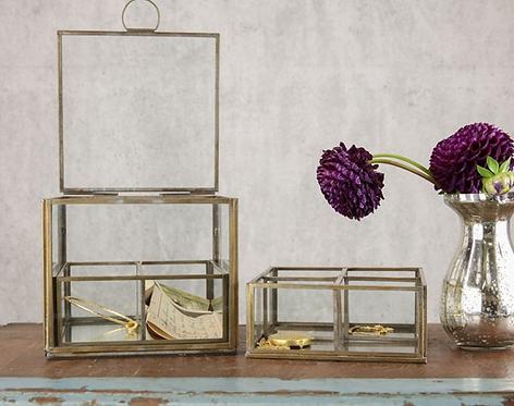 Bequai Compartment Box - Antique Brass