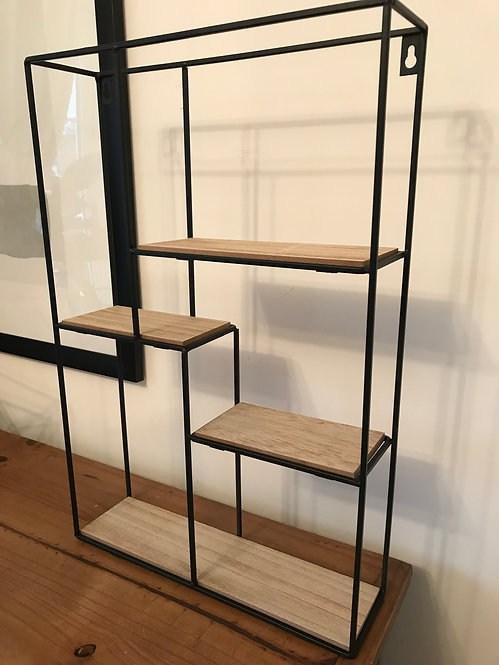 Steel and Grain Multi Shelf Unit