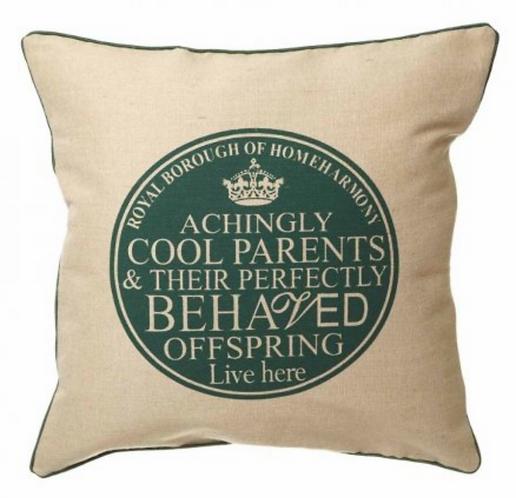 Cushion Plaque Print - Green