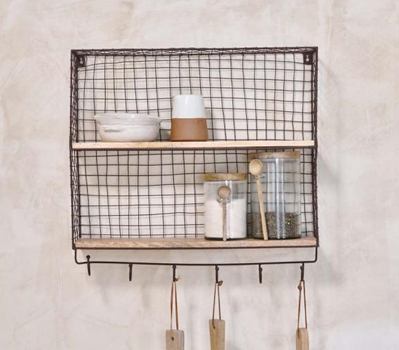Tamba Shelf with Hooks