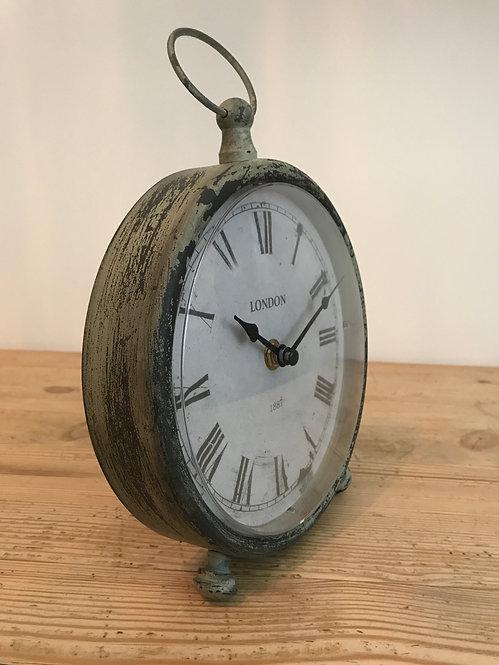 Dark Grey Vintage Style Pocket Watch Mantel Clock