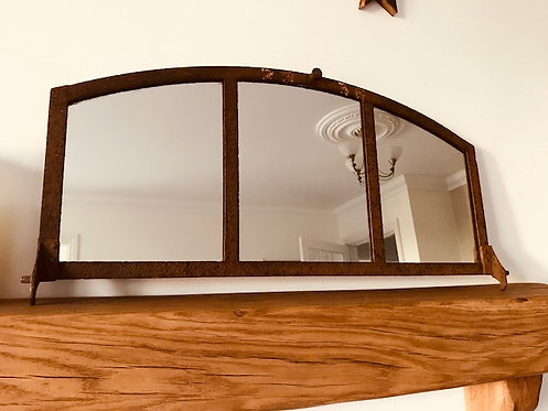 Arched Vintage Antique Iron Window Frame Mirror
