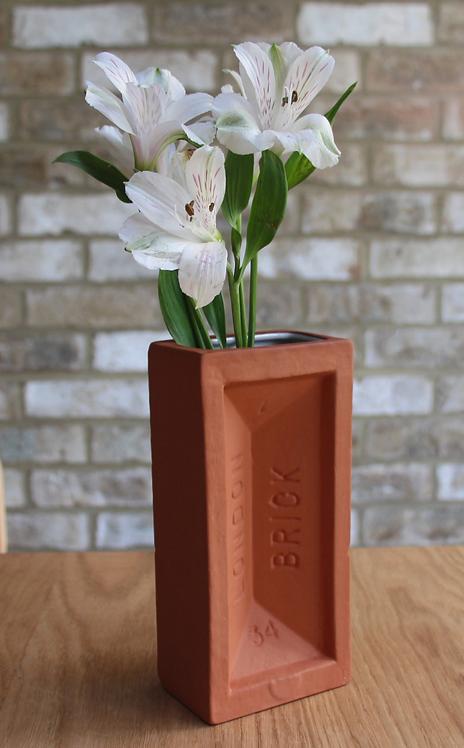 StolenForm Terracotta Brick Vase - NEW