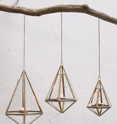 Mokomo Hanging Lantern - Brass